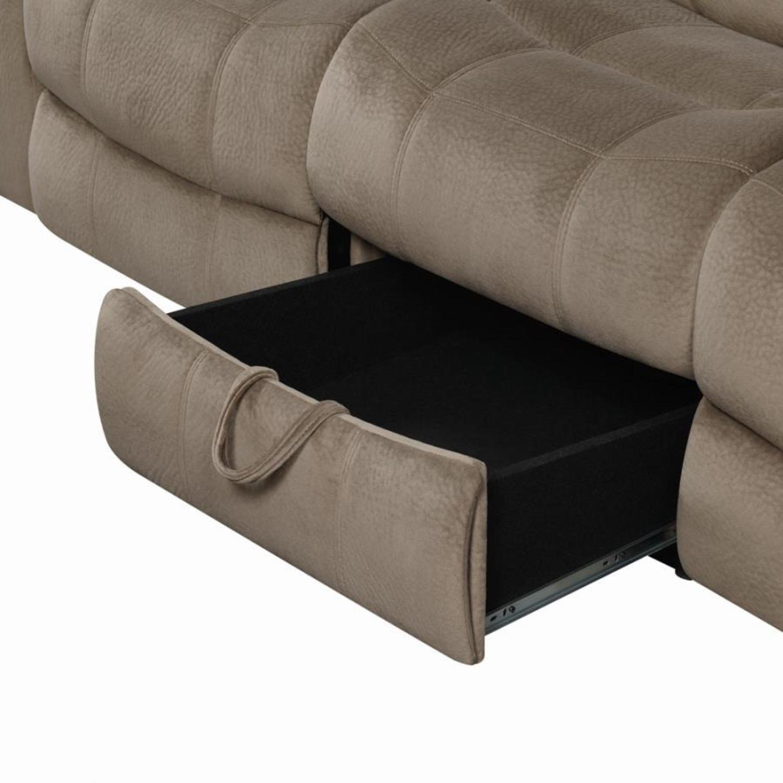 Motion Sofa In Mocha Textured Velvet Fabric - image-4
