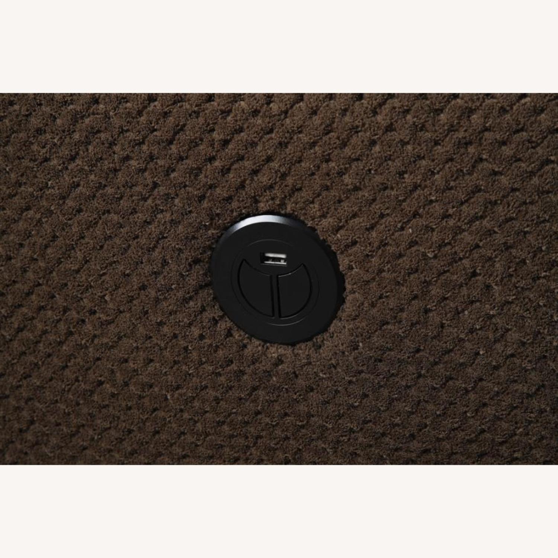 Motion Loveseat In Chocolate Textured Fleece - image-1