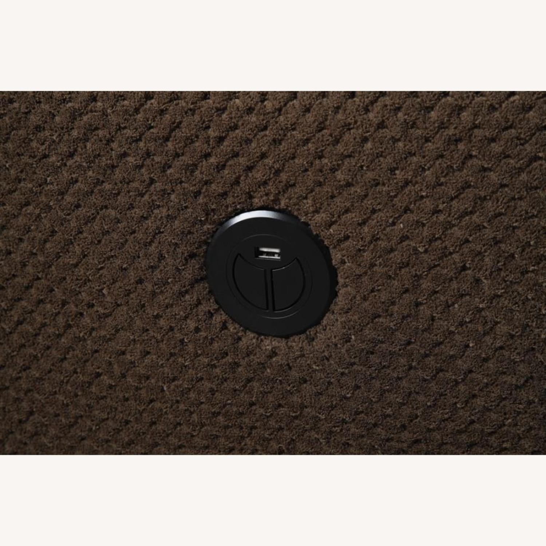 Glider Recliner In Chocolate Textured Fleece - image-1