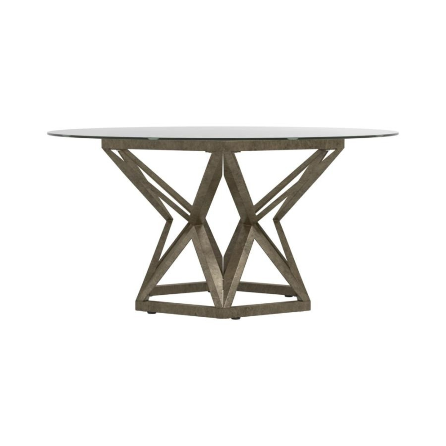 Coffee Table In Gold Hexagon Pedestal Base - image-2