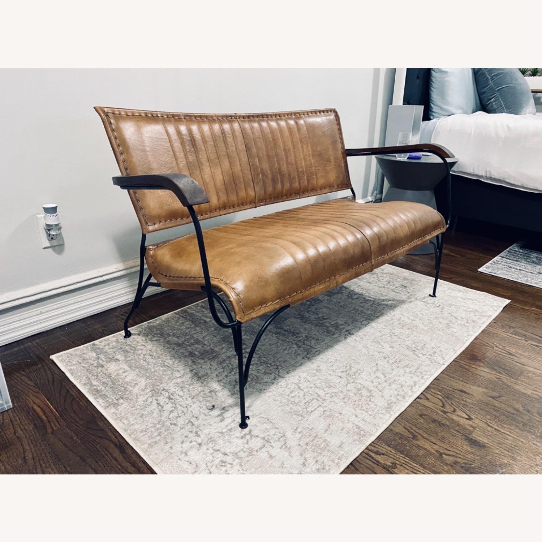 Union Rustic 50 Leather Loveseat - image-2