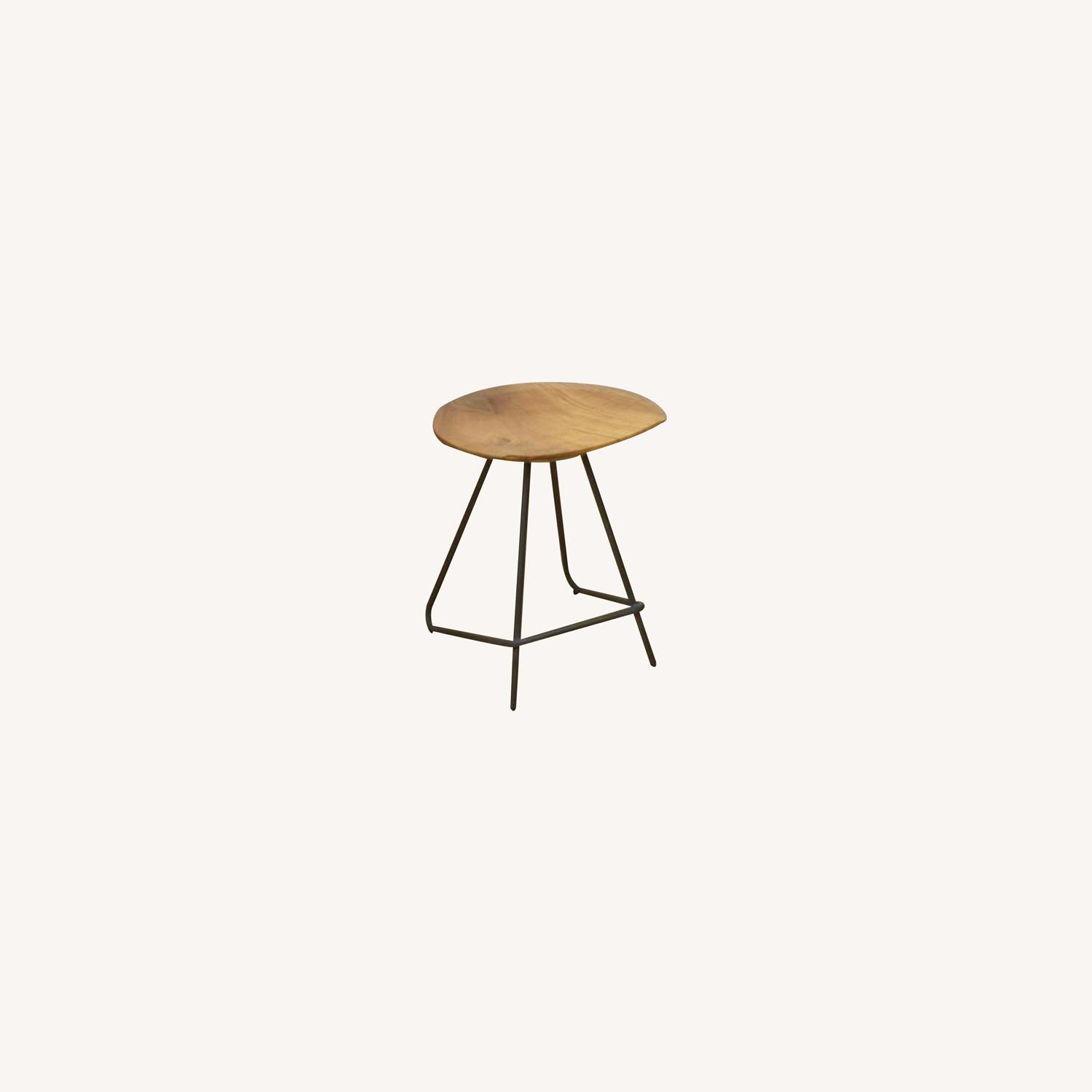 From The Source Solid Teak Stools - image-0