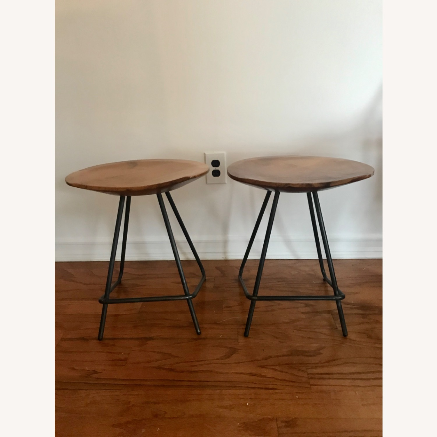 From The Source Solid Teak Stools - image-1