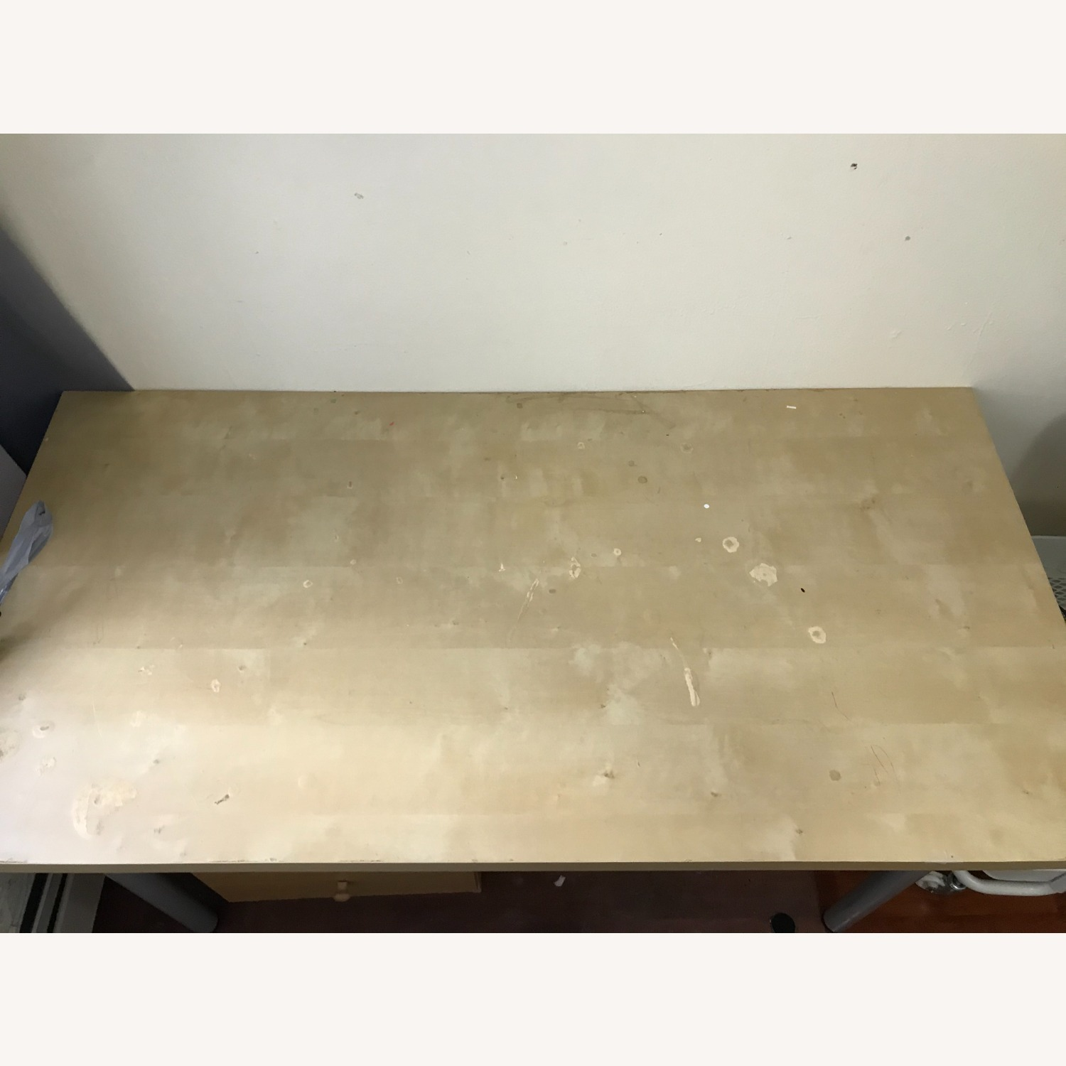 IKEA Table with Drawer and Office Chair - image-2