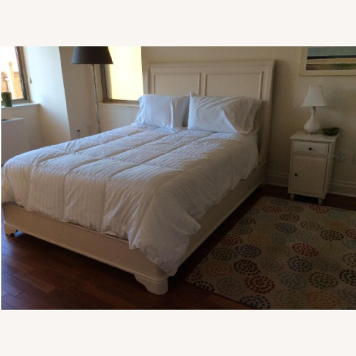 Macy's White Queen Sleigh Bed - image-2