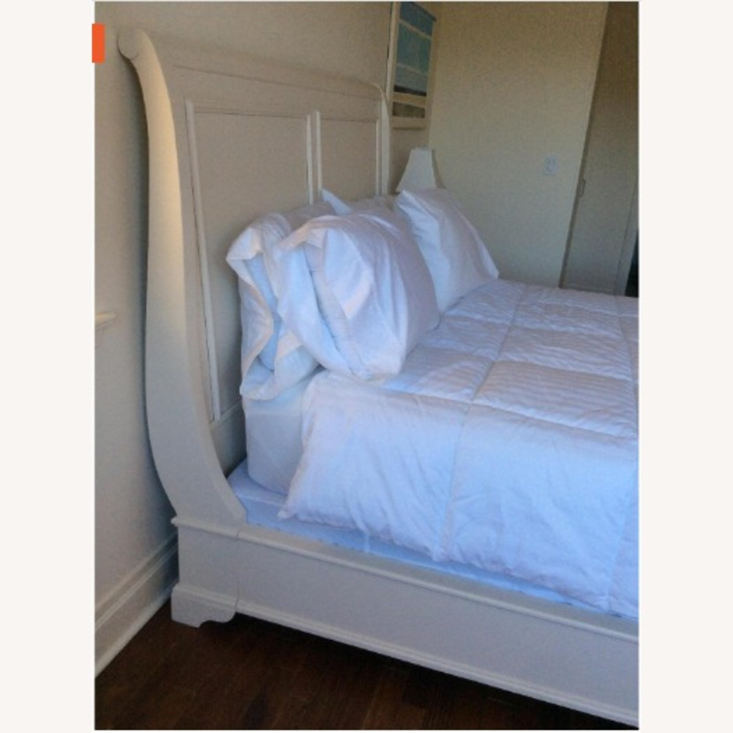 Macy's White Queen Sleigh Bed - image-3