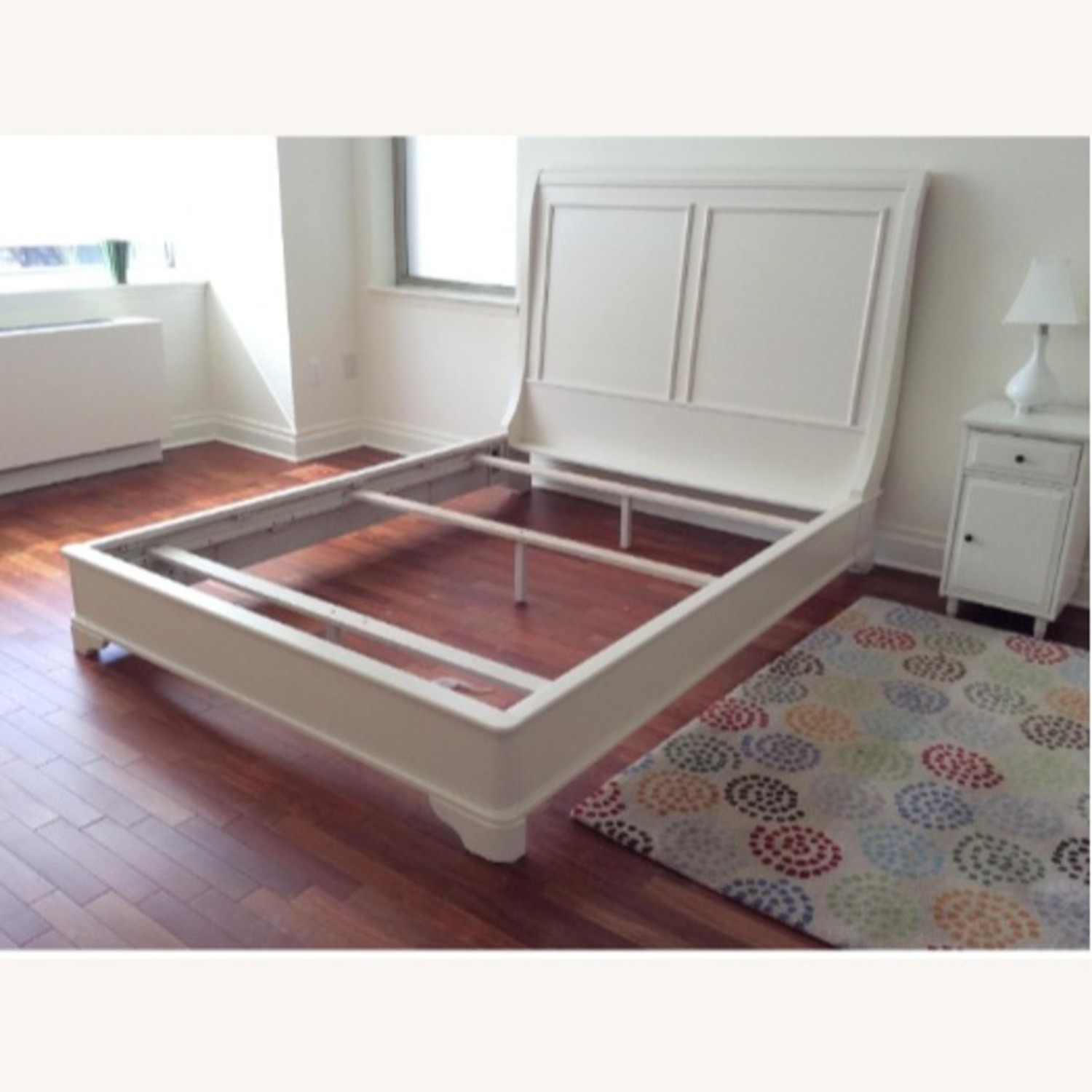 Macy's White Queen Sleigh Bed - image-1