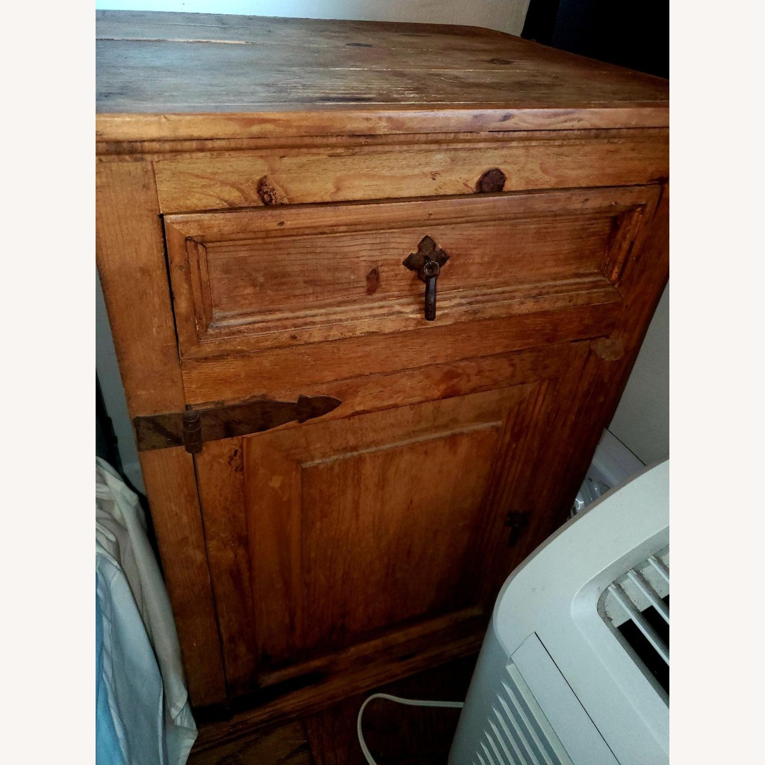 Wooden Bedside Tables with Rustic Hardware - image-3