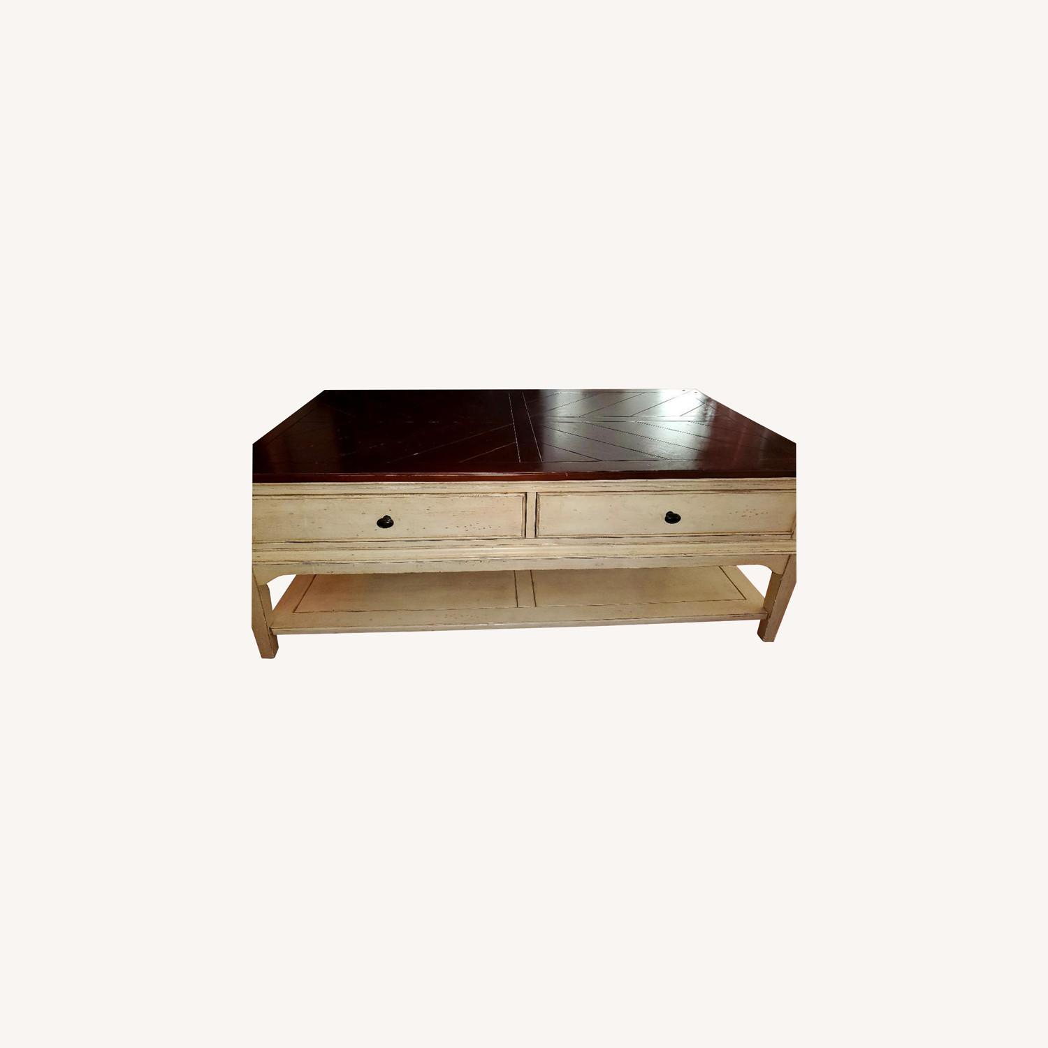 Wooden Coffee Table Farmhouse Chic - image-0