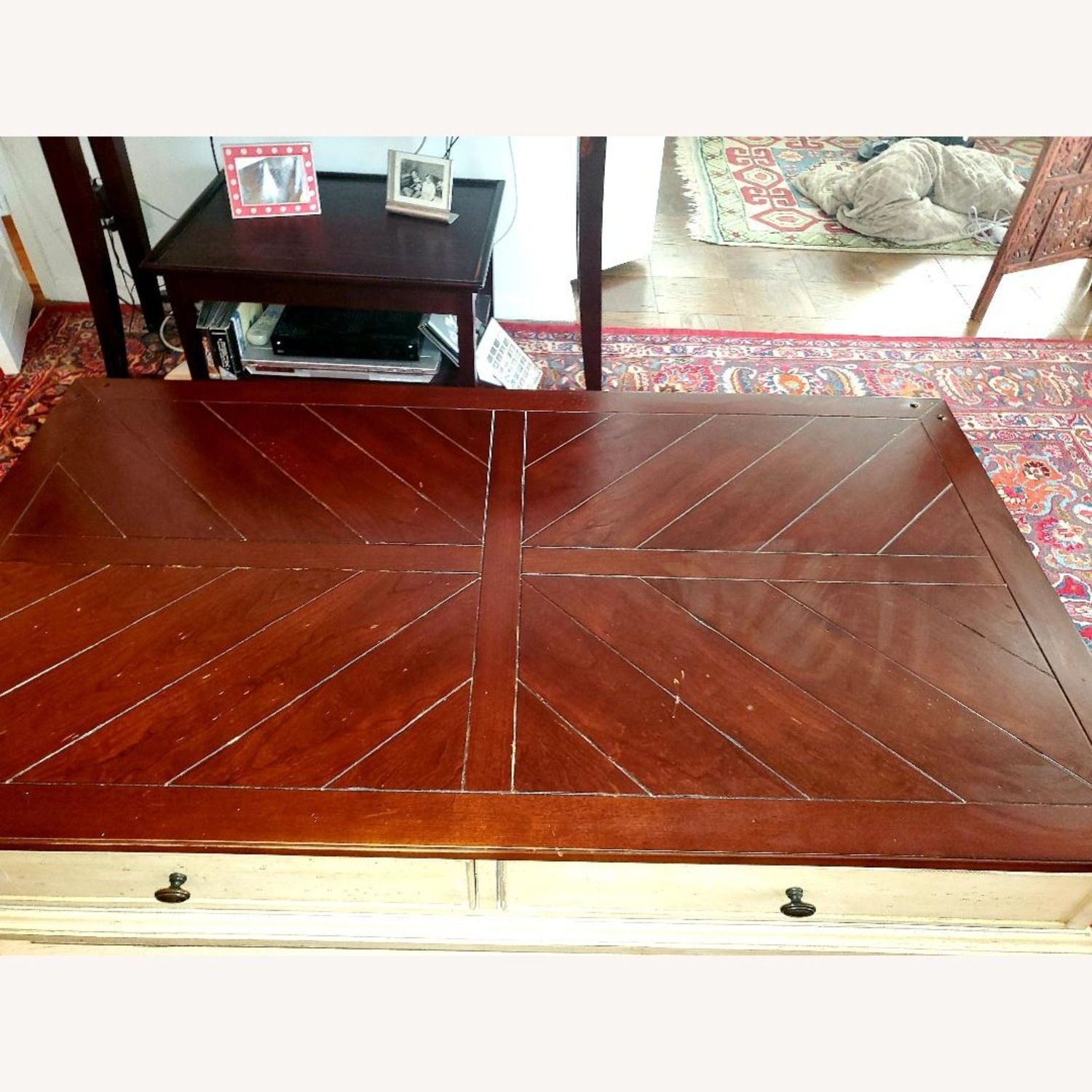Wooden Coffee Table Farmhouse Chic - image-3