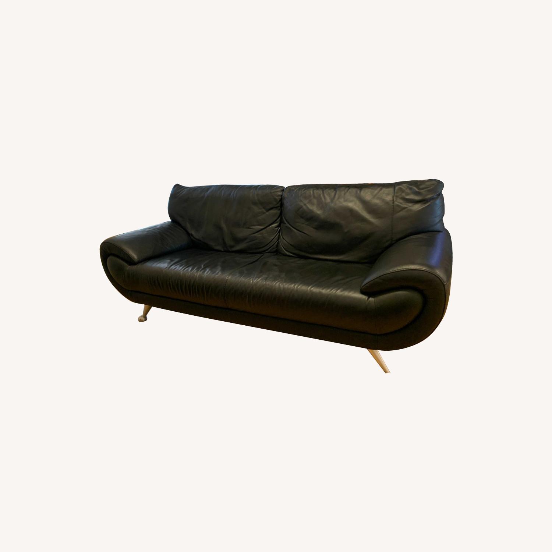Nicoletti Home Italian Leather Sofa - image-0
