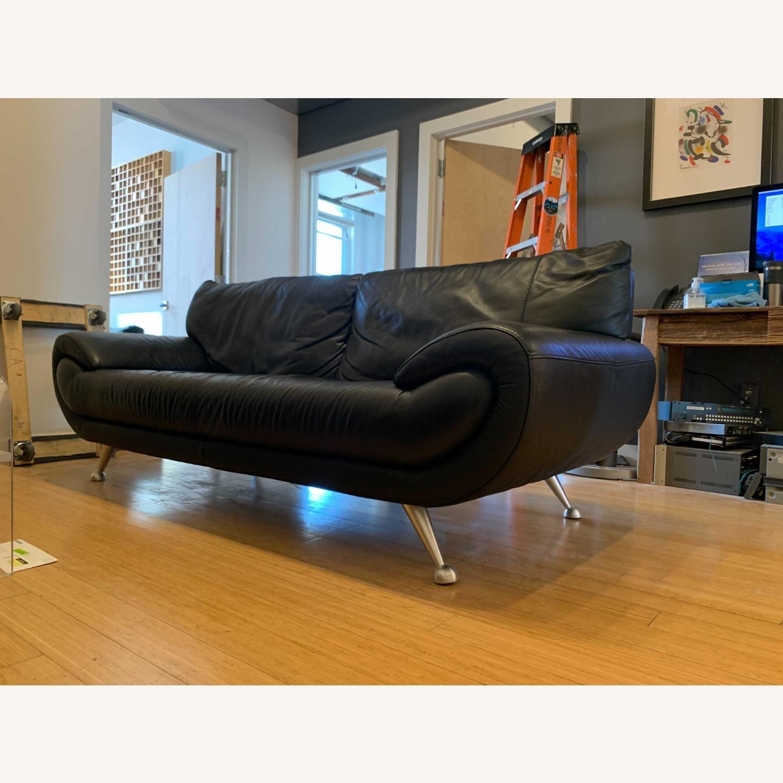 Nicoletti Home Italian Leather Sofa - image-5