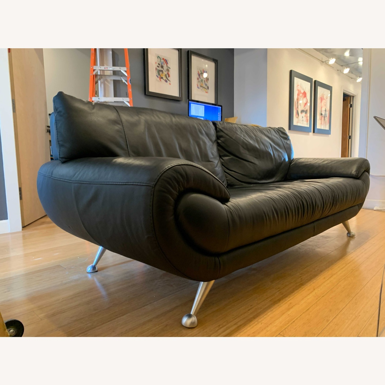 Nicoletti Home Italian Leather Sofa - image-4