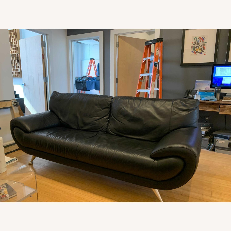 Nicoletti Home Italian Leather Sofa - image-6