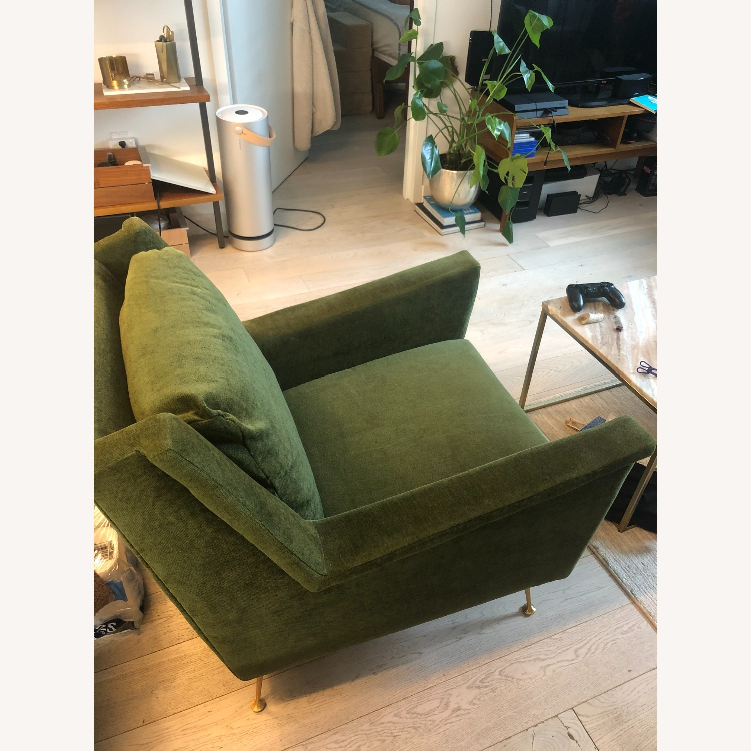 West Elm Carlo Mid-Century Arm Chair - image-2