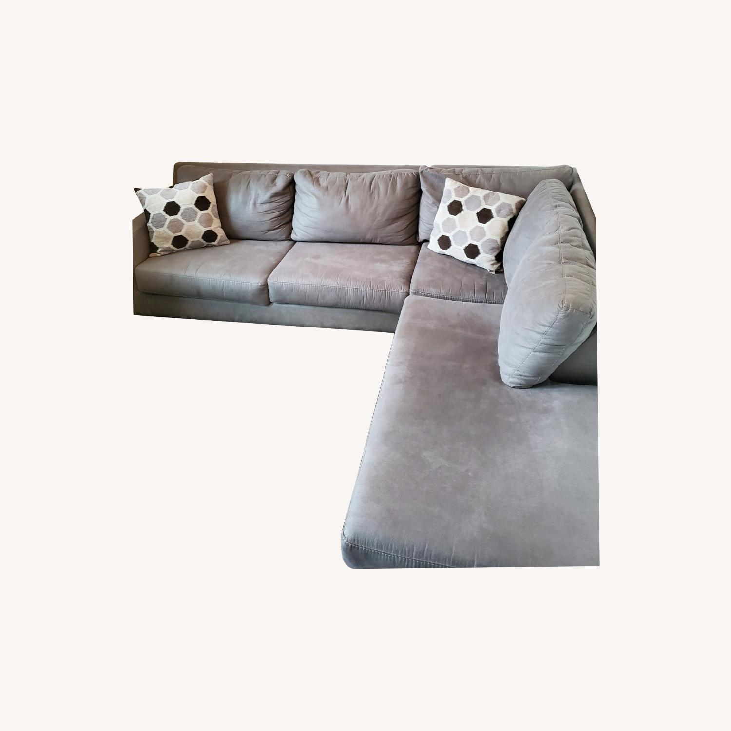 Ashley Furniture Light Grey 2 Piece Sectional With Chaise Aptdeco