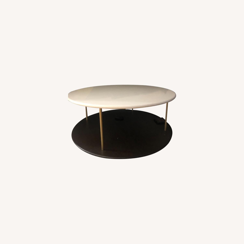 West Elm Quartz Tiered Round Coffee Table - image-0