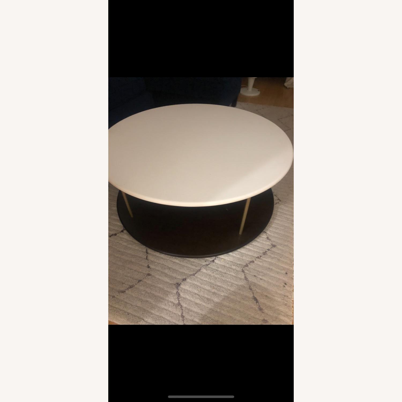 West Elm Quartz Tiered Round Coffee Table - image-3