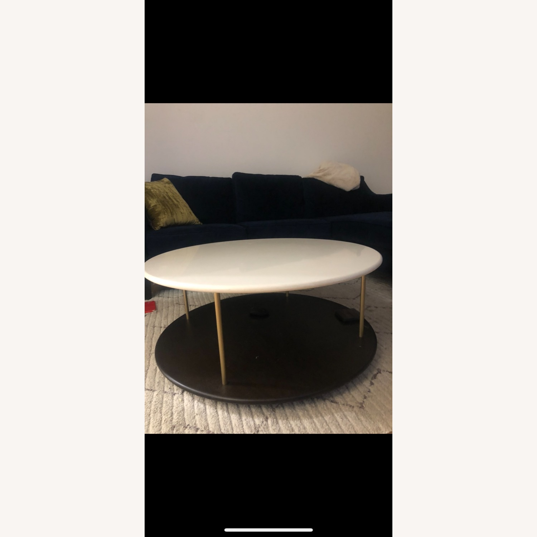 West Elm Quartz Tiered Round Coffee Table - image-2