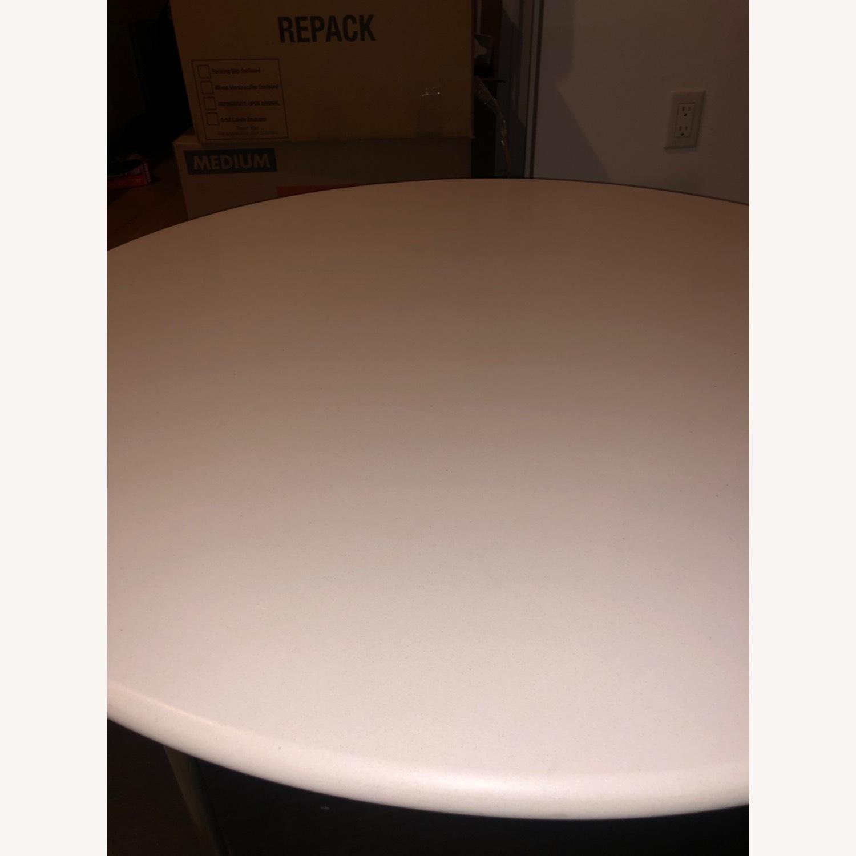 West Elm Quartz Tiered Round Coffee Table - image-1