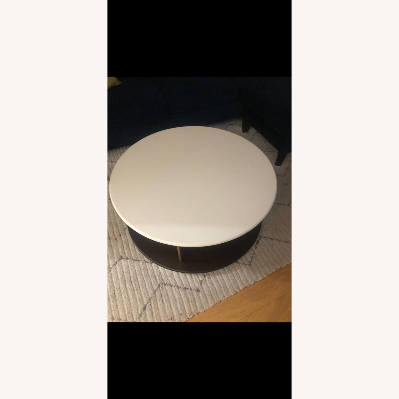 West Elm Quartz Tiered Round Coffee Table - image-4
