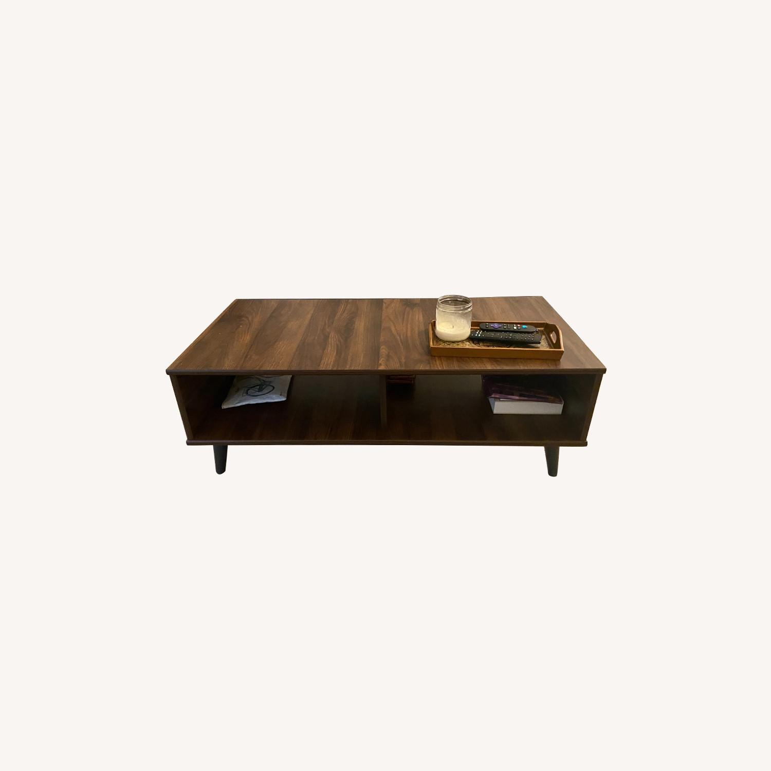 Hayneedle Dark Brown Rectangular Coffee Table - image-0