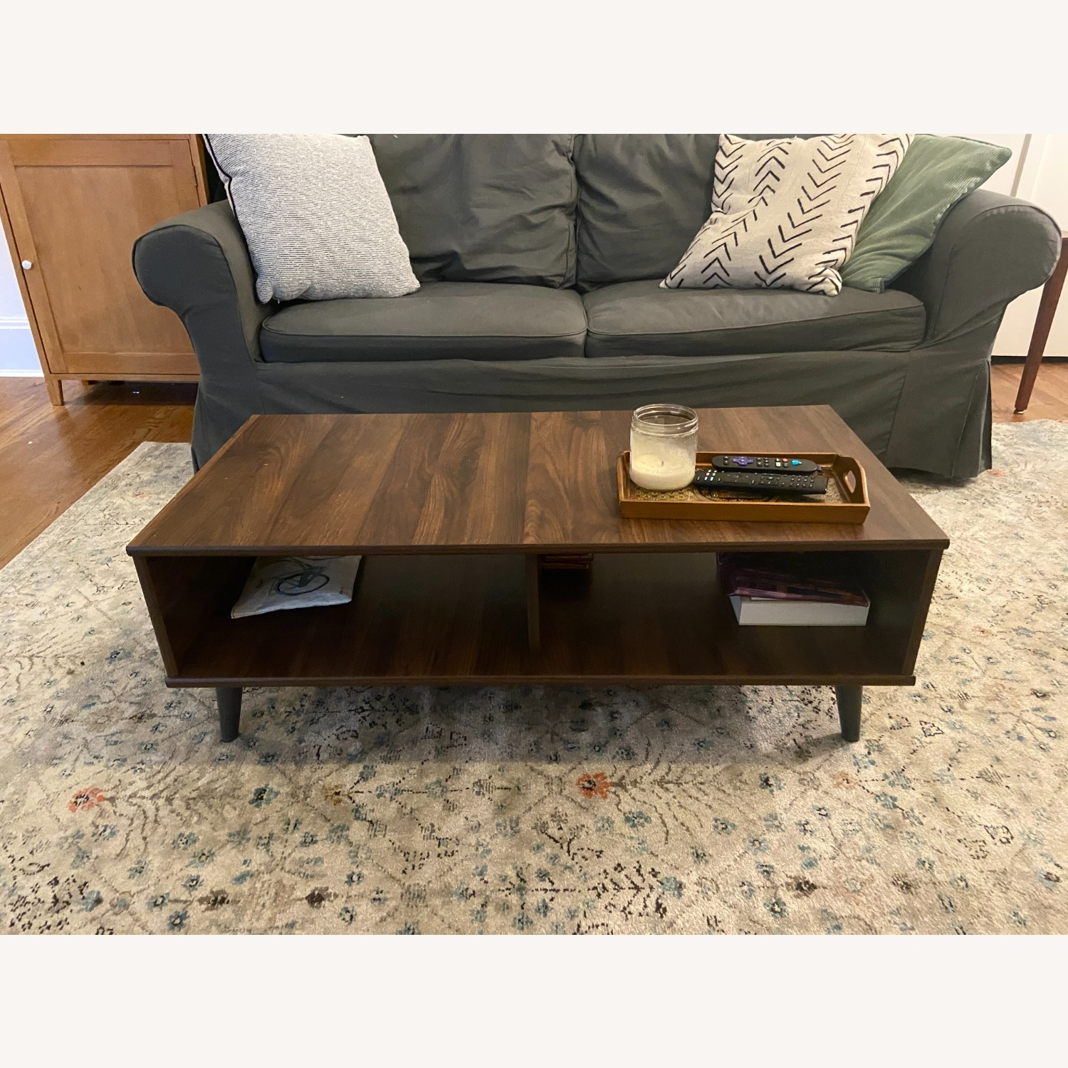 Hayneedle Dark Brown Rectangular Coffee Table - image-1
