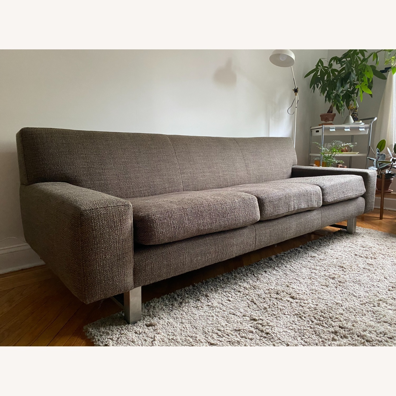 Crate & Barrel Gray Sofa - image-4