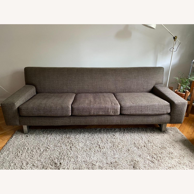 Crate & Barrel Gray Sofa - image-1
