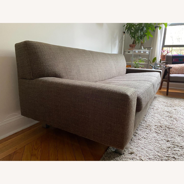 Crate & Barrel Gray Sofa - image-2