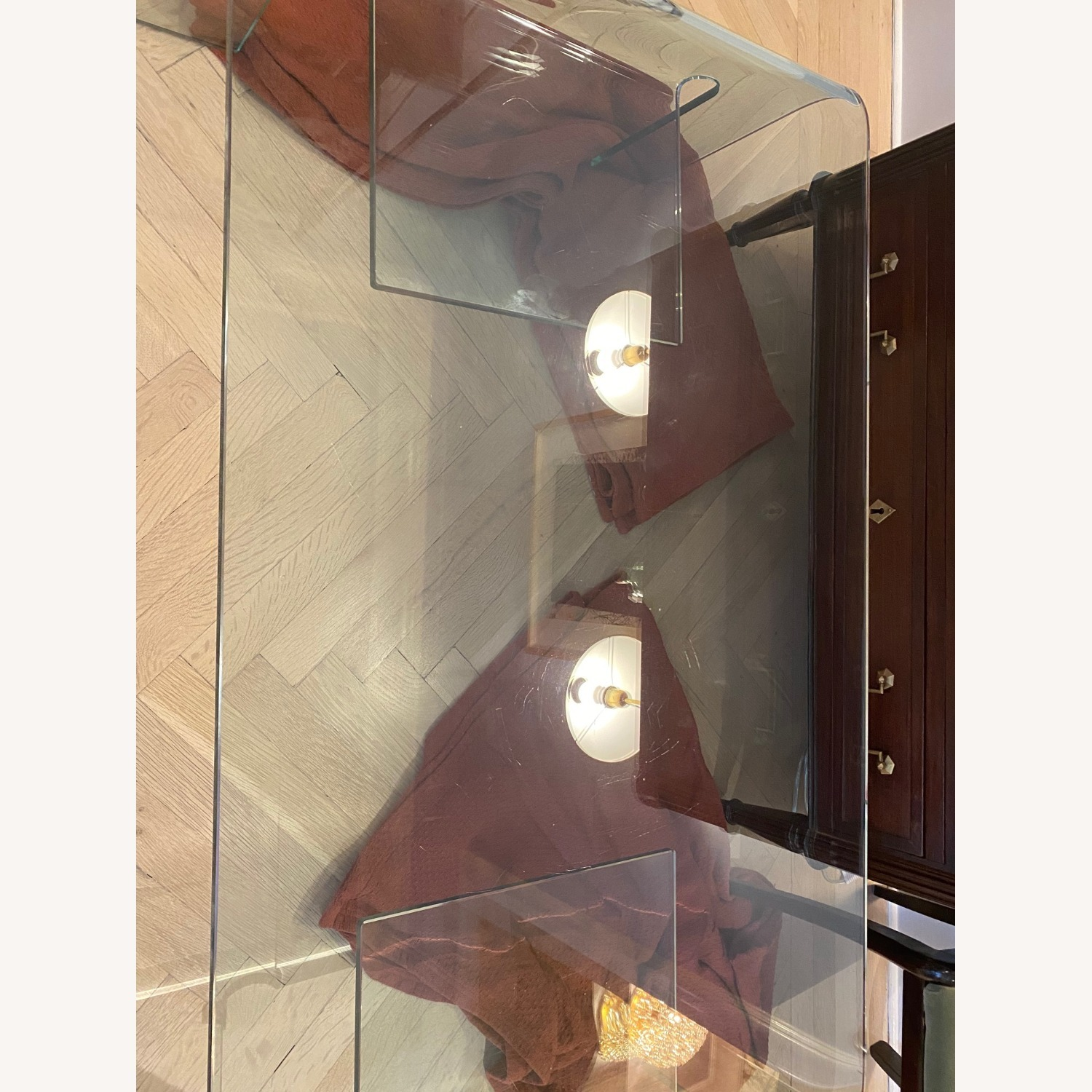 Contemporary Glass Coffee Table - image-6
