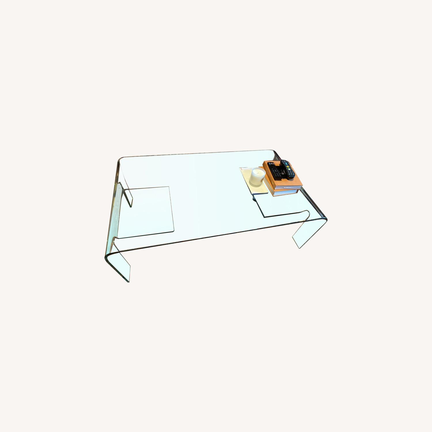 Contemporary Glass Coffee Table - image-0