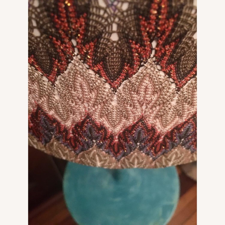 Vintage Turquoise Lamp - image-2