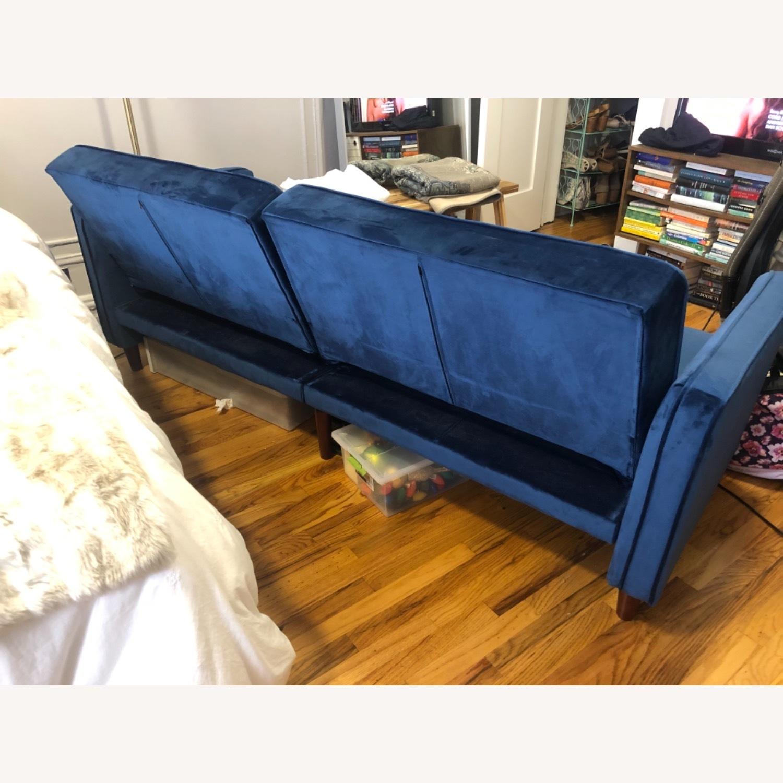 Wayfair Navy Velvet Sleeper Sofa - image-2