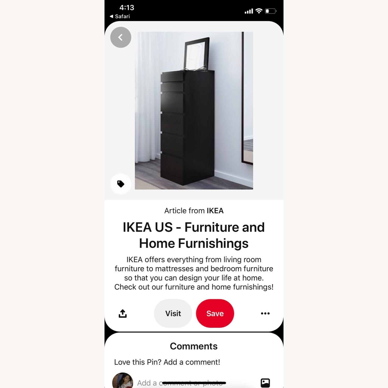 Ikea Dark Wood Dresser With Mirror And Jewelry Storage Aptdeco