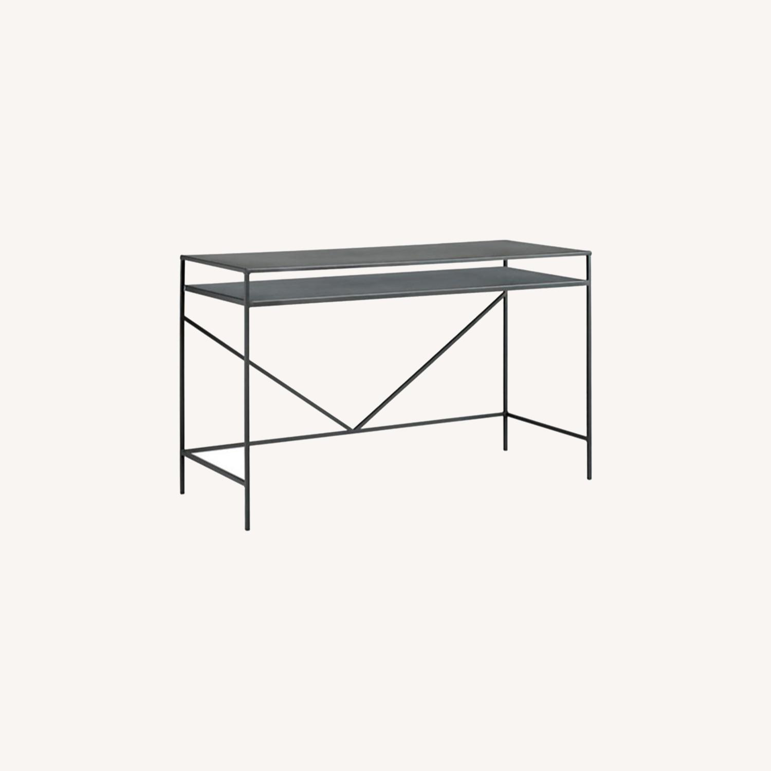 Room&Board Slim Desk in Natural Steel - image-0