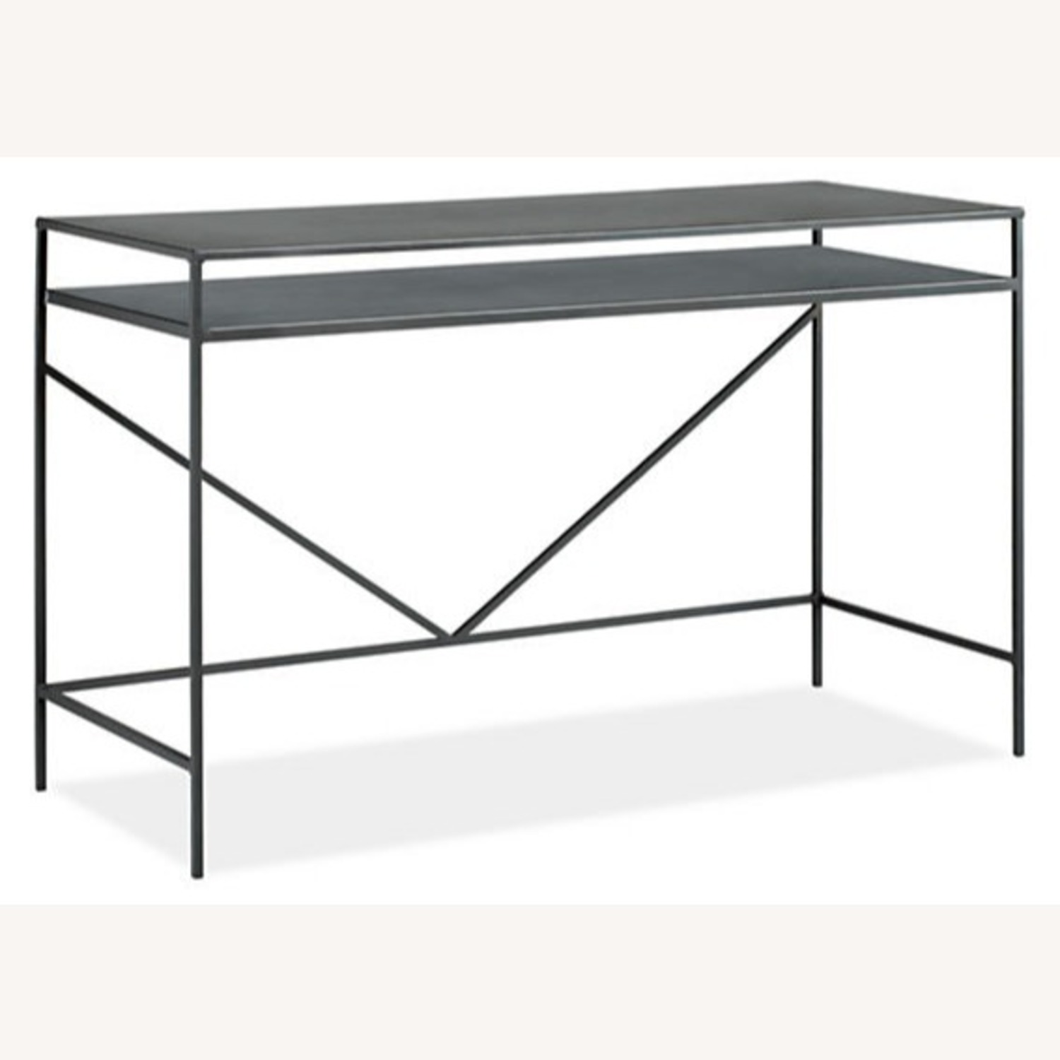 Room&Board Slim Desk in Natural Steel - image-3
