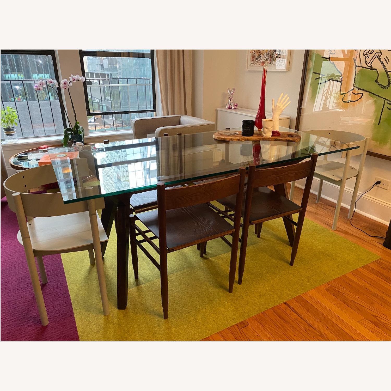Crate & Barrel Strut Glass Table - image-4