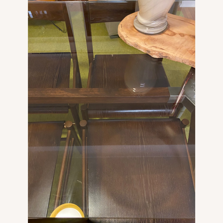 Crate & Barrel Strut Glass Table - image-7