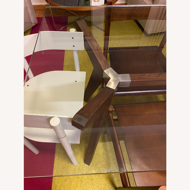 Crate & Barrel Strut Glass Table - image-9