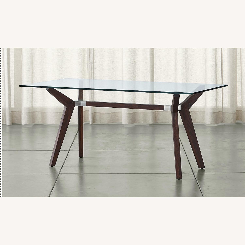 Crate & Barrel Strut Glass Table - image-1