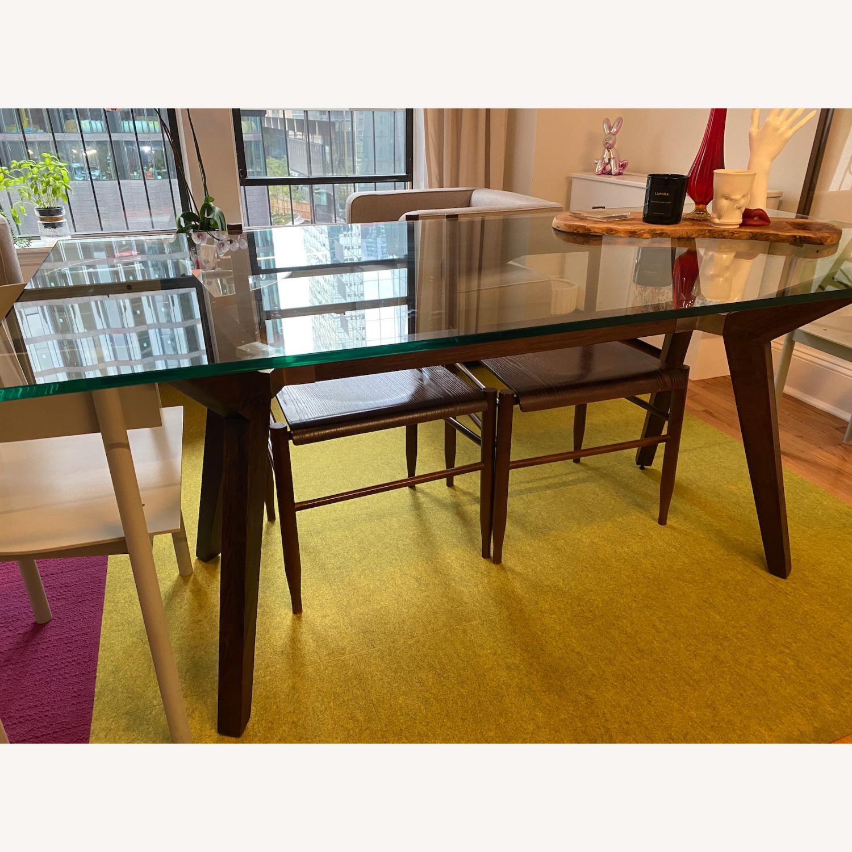 Crate & Barrel Strut Glass Table - image-3