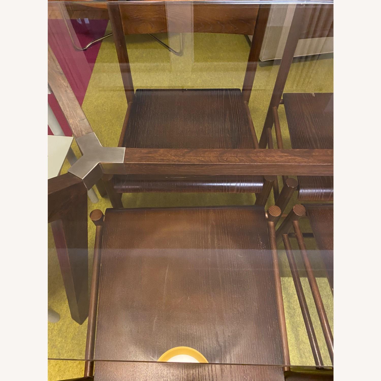Crate & Barrel Strut Glass Table - image-6
