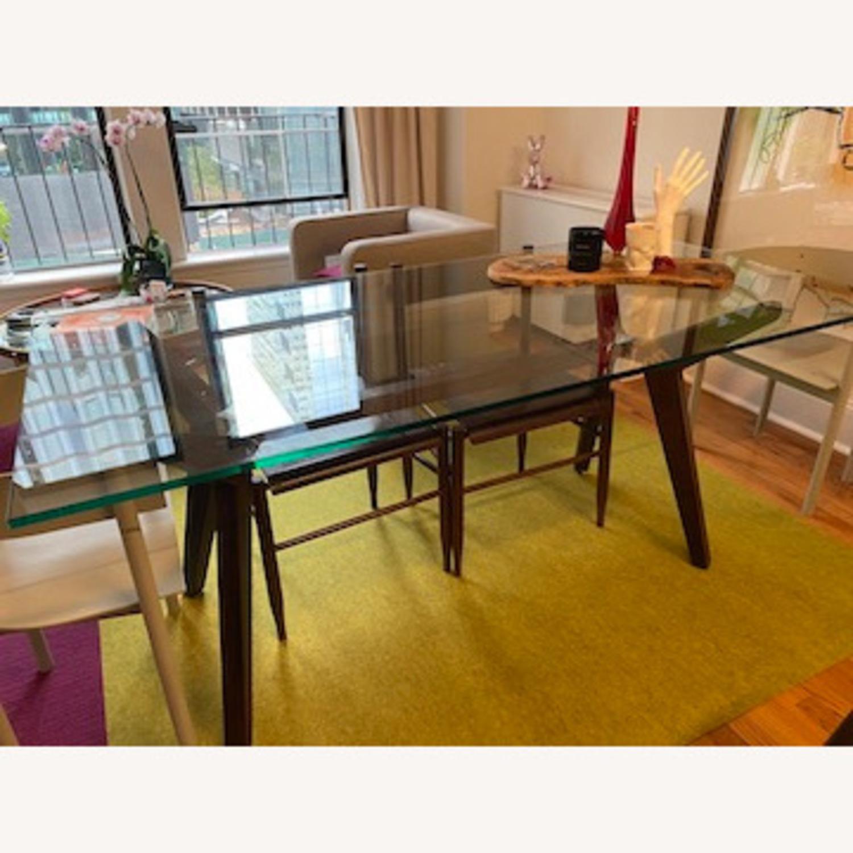 Crate & Barrel Strut Glass Table - image-2