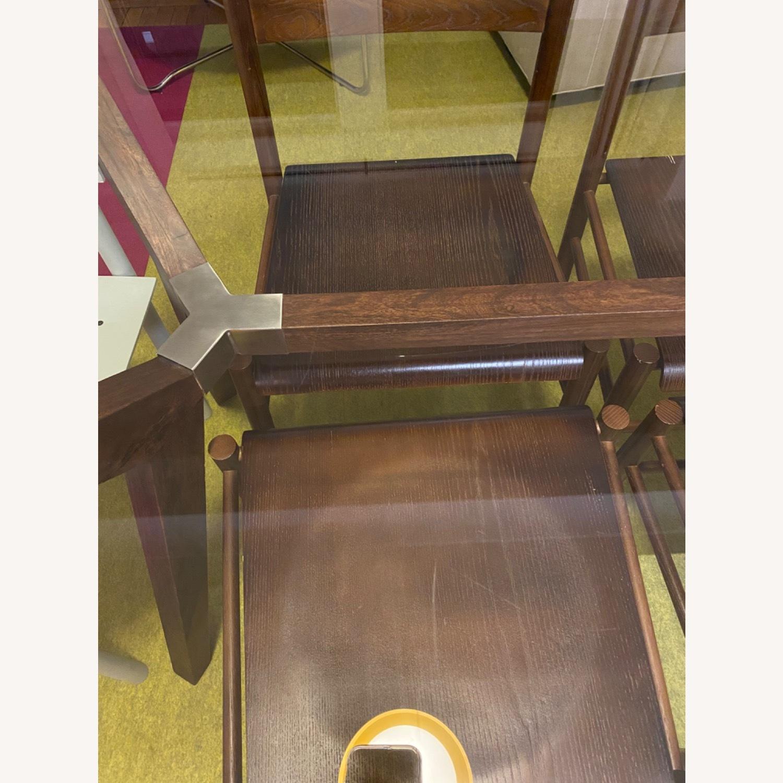 Crate & Barrel Strut Glass Table - image-5