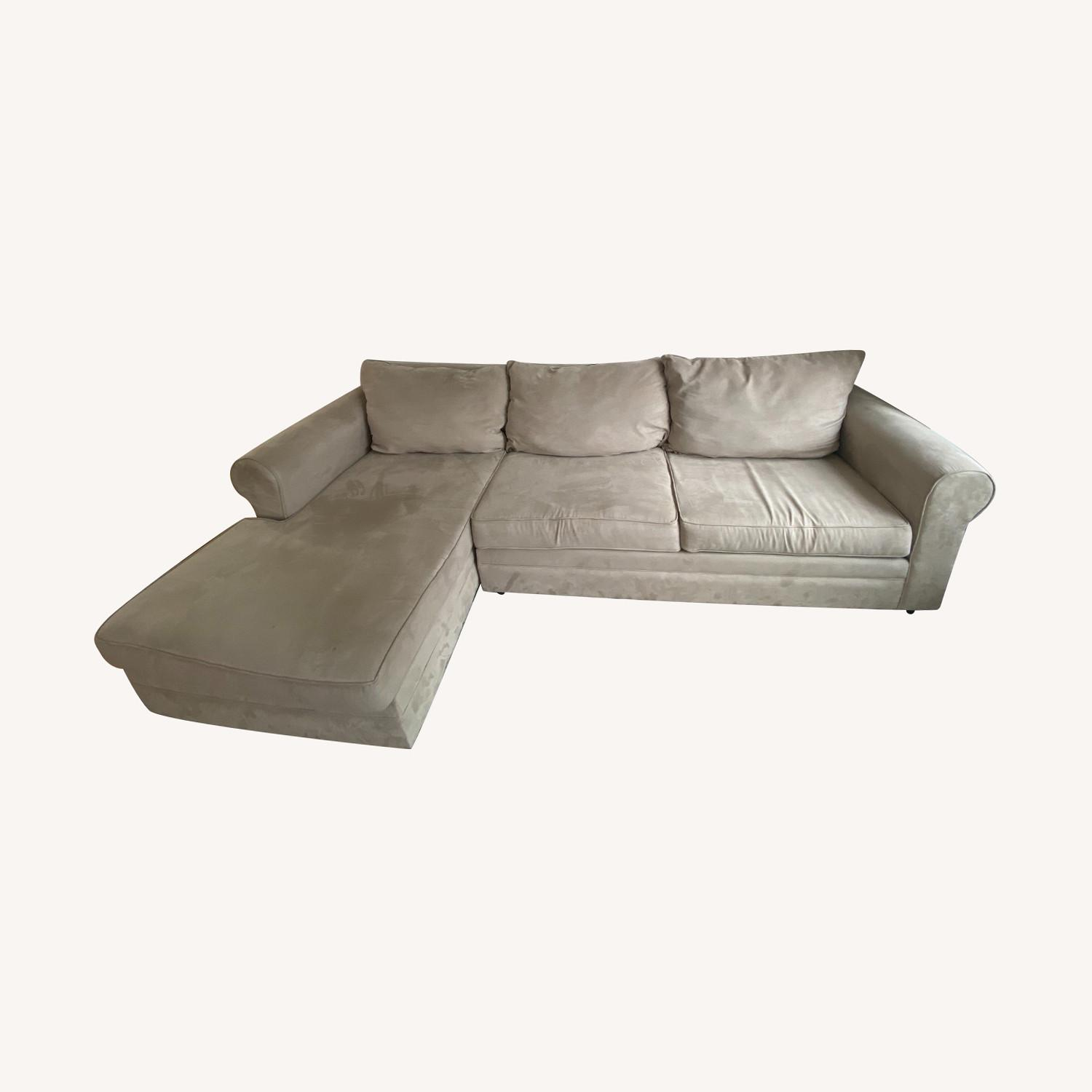 Bob's Discount Furniture Gray Sectional - image-0