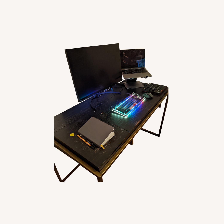 Article Oscuro Desk (Black/Brass) - image-0