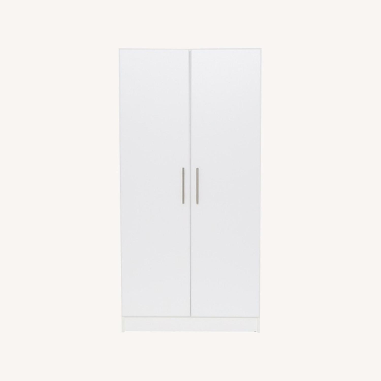 CB2 High White Wall Storage Cabinet - image-0