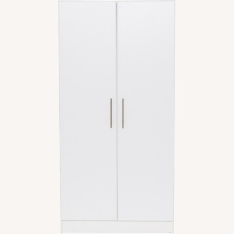 CB2 High White Wall Storage Cabinet - image-1