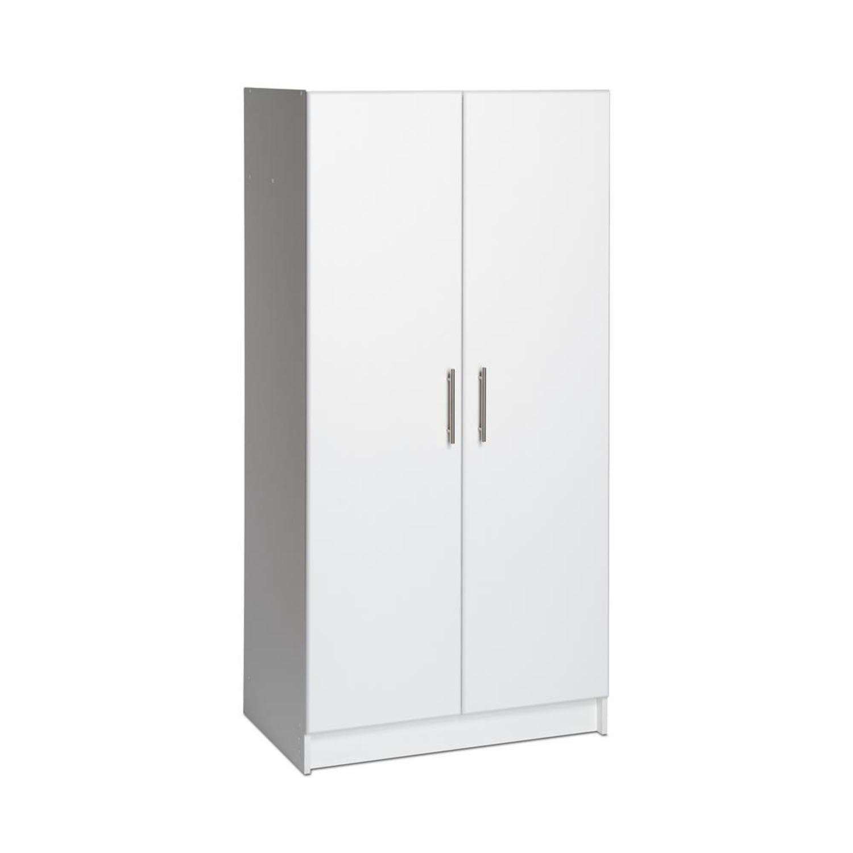 CB2 High White Wall Storage Cabinet - image-2